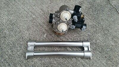 New Fleck 9000 water softener control valve head dual tank stainless steele