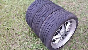 3 X 205/40R17 TYRES GOOD TREAD SUIT TRAILER USE OR SMALLER CARS Kallangur Pine Rivers Area Preview