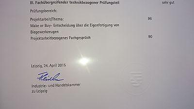 """Projektarbeit """"Make or Buy"""" technischer Betriebswirt IHK 96 Punkte Note 1"""