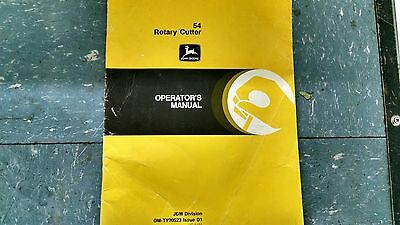 John Deere 54 Rotary Cutter Operators Manual Om-ty20523