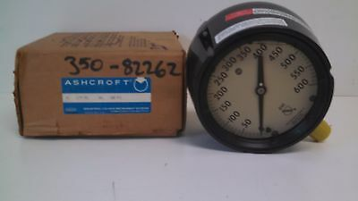 New Old Stock Ashcroft Duragauge 0-600psi Pressure Gauge 45-1279-rsl-04l-600