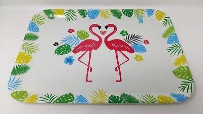 Cheap Serving Trays (Melamine Tray Flamingo Pattern Design 44cmx32.5cm Large Brand New)