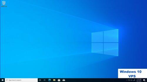 WINDOWS 10 RDP/VDI/VPS Desktop 4GB RAM + 150GB + 3.6GHZ + 4 Core 30 Days