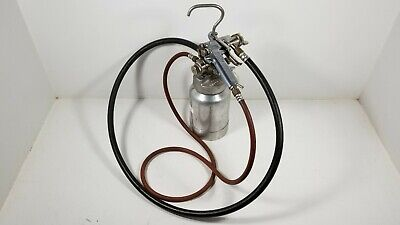 Binks 2001 Siphon Paint Spray Gun Binks Model 80-228 Pressure Pot With Lines