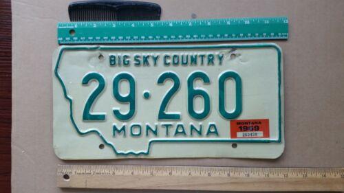 License Plate, Montana, Passenger, 1968, 29 (Rosebud County) - 260