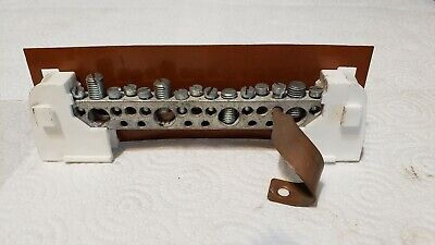Older Crouse Hinds Siemens 15-position Breaker Box Neutral Ground Bar Used