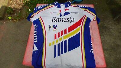 maillot de vélo vintage Banesto Nalini T 71cm sur 55cm