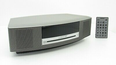 Bose Wave Music III CD Player Radio Alarm Clock Sound Touch Control Titanium