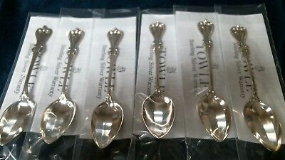 OLD COLONIAL by TOWLE STERLING SILVER TEASPOONS (5 oclock) Brand NEW SET OF 6