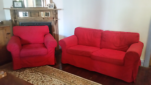 Super comfortable red armchair and couch Northbridge Perth City Area Preview