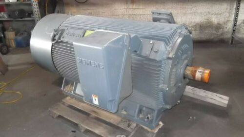 1250 HP Siemens AC Electric Motors, 1800 RPM, FR. 708S, TEFC, 2300 V, NEW