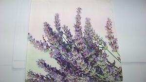 4   Servietten Lavendel  Napkins