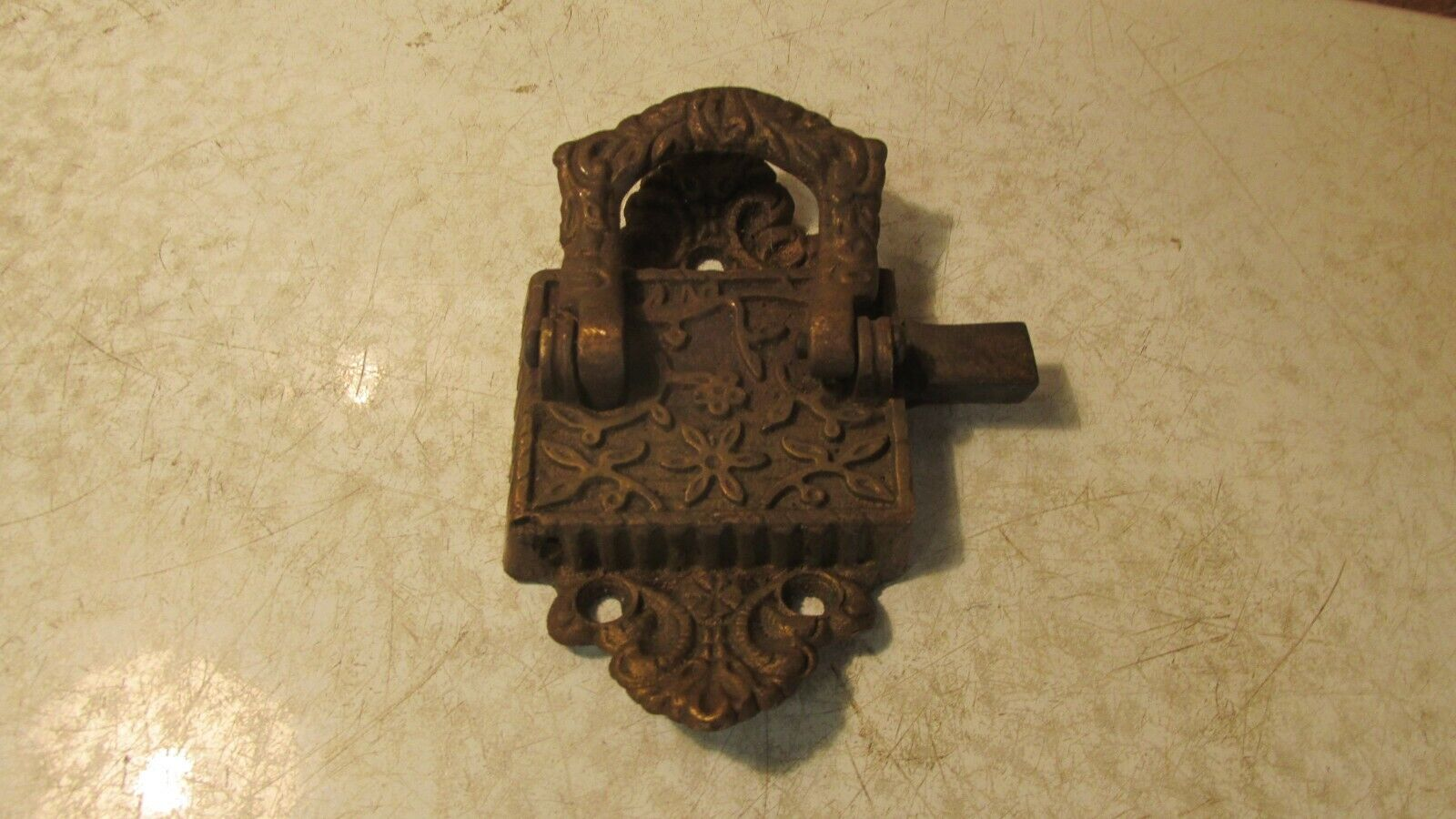 1 Antique Cast Brass Ice Box Latch
