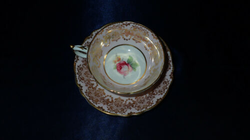 Vintage Paragon Porcelain Pink Rose Tea Cup & Saucer with Gold Gilt