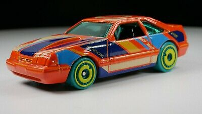 Hot Wheels '92 Ford Mustang ADULT COLLECTOR 5.0 Liters HW Art Orange