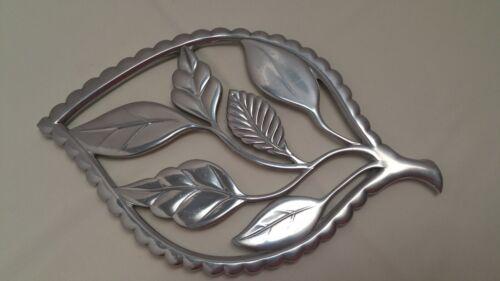 Reed and Barton Polished Aluminum Leaves Trivet