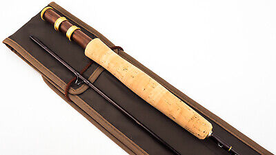 """HAND BUILT BY S.R.S """"HENRY GIRLING"""" 8' #4 TROUT FLY ROD"""