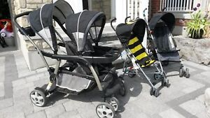 Graco Dual Baby Travel System Stroller & Umbrella Strollers