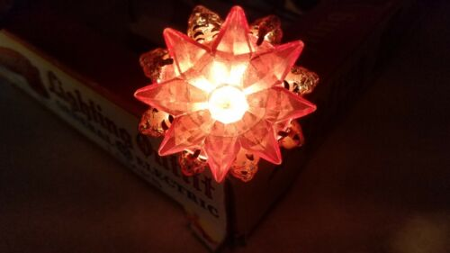Japan C6 Pink Rosette Nippon Star Christmas Light Tested Working