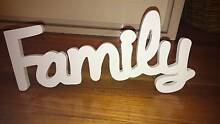 Wooden 'Family' sign Highett Bayside Area Preview