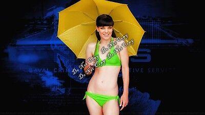 Ncis Abby (Pauley Perrette Photo NCIS Abby Sciuto Bikini Umbrella Sexy 4x6 Rare Rp      )