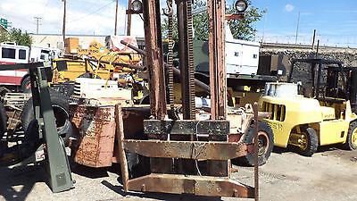 Caterpillar V100 -150 Forklift Mast Upright Forks Class Iv