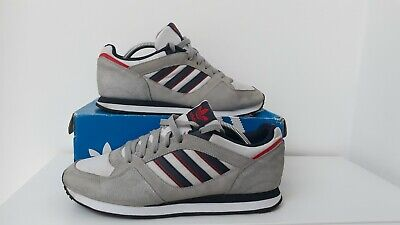 Adidas ZX100 Men's Trainers Grey/White/Navy Size UK9 Deadstock 2012