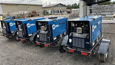 2017 Miller Big Blue 400 Kubota Diesel Welder With Arcreach Trailer Mounted