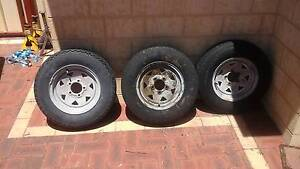 3 x 13 inch boat trailer wheels and tyres Dalyellup Capel Area Preview