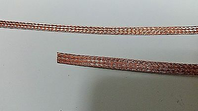 15 Ft Flat Braided Bare Pure Copper Wire 14 Wide Ground Strap Usa