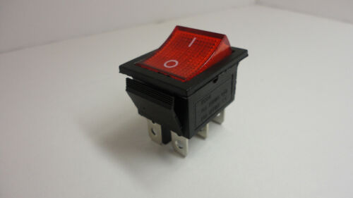 KCD4 16A 250VAC 20A 125VAC Rocker Switch Button On Off Snap In Plug 6 Pins RED