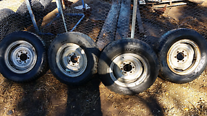 4 x steel split rims wheels 6 stud Tanunda Barossa Area Preview