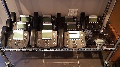 10 Polycom Ip 550s 1 Ip 5000 Phone System
