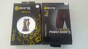 Mens Compression Gear SKINS - BRAND NEW BARGAIN!! Highland Park Gold Coast City Preview