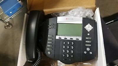 Lot Of 4 Polycom Soundpoint Ip-550 Business Office Phone Voip 2201-12550-001