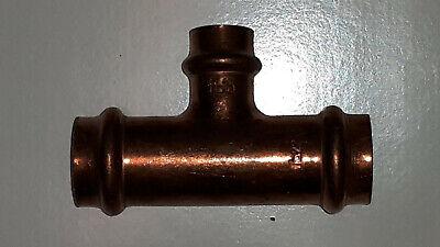 28-22-28 mm Serie 2418 Viega Profipress T-Stück Kupfer