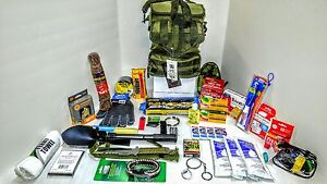 Disaster Emergency Survival Kit Bug Out Bag Camping earthquake Hurricane