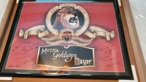 MGM Metro Goldwyn Mayer Original Signed Autograph Poster Hollywood
