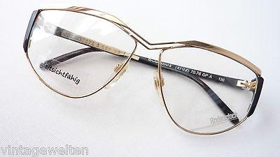 Rodenstock Brille für Frauen große Glasform Vintagegestell gold-schwarz Grösse M