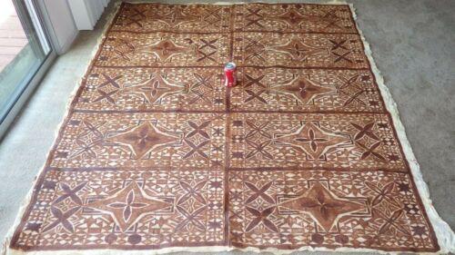 Old Vintage Authentic Polynesian Islands Polynesia Large Tapa Bark Cloth 6