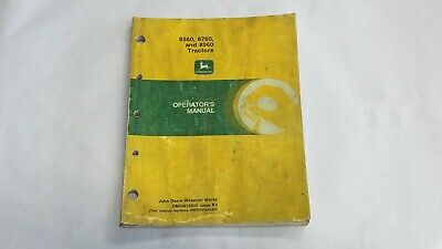 John Deere 8560 8760 8960 Tractor Operators Manual Omrw25626 Issue K9