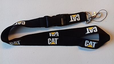 black caterpillar CAT detachable lanyard *NEW keychain key holder