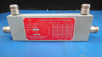 Narda Model 30238 Coaxial Directional Coupler .460-.950 Ghz