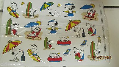 Snoopy Summer (SNOOPY SUMMER TIME DECORATION STICKERS 1 SHEET OF 22 STICKERS)