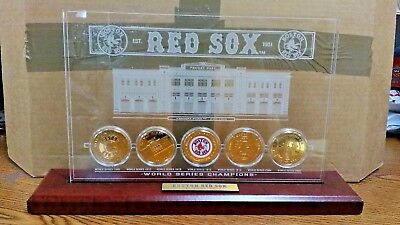 Boston Red Sox Coin Set - BOSTON RED SOX WORLDE SERIES CHAMPIONS COIN SET PLAQUE COLLECTIBLE BRAND NEW