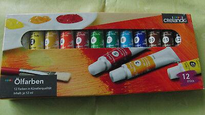 12x Ölfarben in Tube,je 12ml