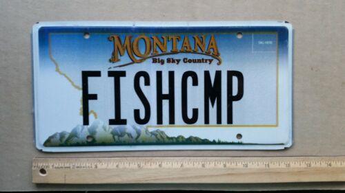 License Plate, Montana, Gr8 Vanity: FISH CMP, Fishing Camp