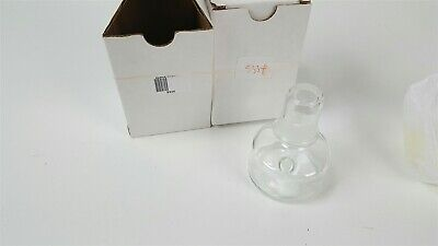 Lot Of 2 Schott Duran Lab Bottles With Glass Lid Stopper