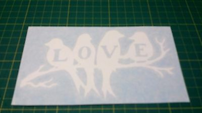 LOVE BIRDS ON TREE Vinyl Sticker DECAL FOR CAR WINDOW-LAPTOP-WALL
