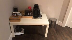 Coffee maker and table